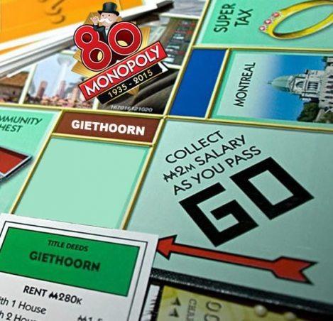 Giethoorn op wereldeditie Monopoly