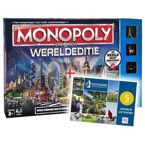 Monopoly Wereldeditie + Kadobon Giethoorn 5 euro