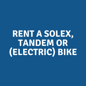 rent a solex tandem or electric bike in giethoorn