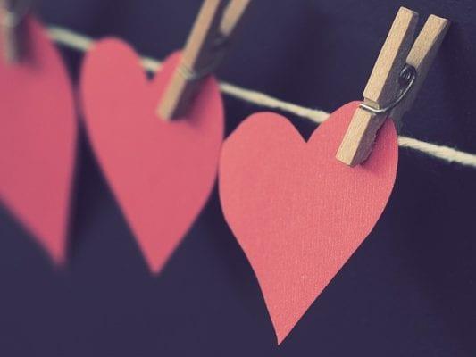 valentijn hartjes in giethoorn